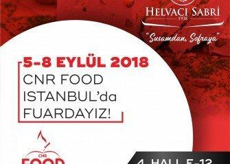 CNR FOOD ISTANBUL Fuarındayız !